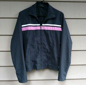 Nike Grey Pink White Windbreaker Jacket Large